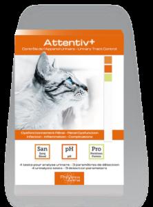 Attentiv+® test de santé analyse urinaire chat au domicile